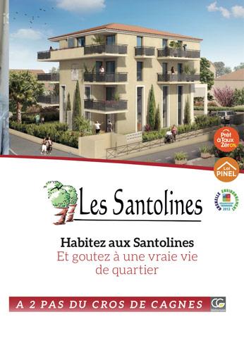 Les Santolines à Cagnes sur Mer